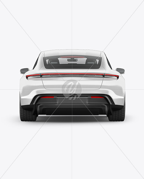 Electric Sport Car Mockup - Back View - Yellowimages Mockups
