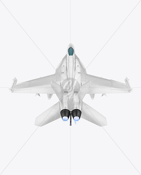 Combat Fighter - Back Side View (High-Angle Shot) - Yellowimages Mockups