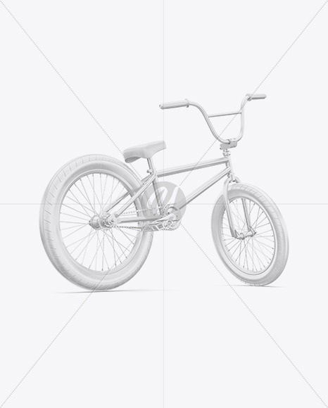 BMX Bicycle Mockup - Back Half Side View - Yellowimages Mockups