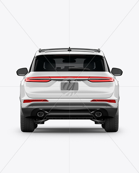 Crossover SUV Mockup – Back View - Yellowimages Mockups
