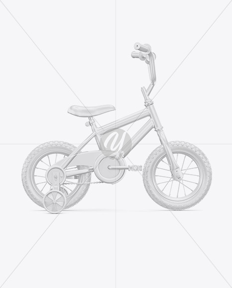 Children Bike Mockup - Right Side View - Yellowimages Mockups