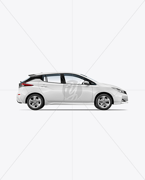 Electric Compact Car Mockup - Side View - Yellowimages Mockups