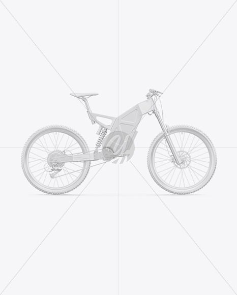 Electric Bike Mockup - Right Side View - Yellowimages Mockups