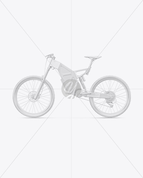 Electric Bike Mockup - Left Side View - Yellowimages Mockups