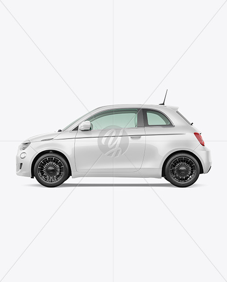 EV Compact Car Mockup - Left Side View - Yellowimages Mockups