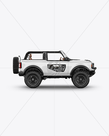 Off-Road SUV Open Roof Mockup - Side View - Yellowimages Mockups