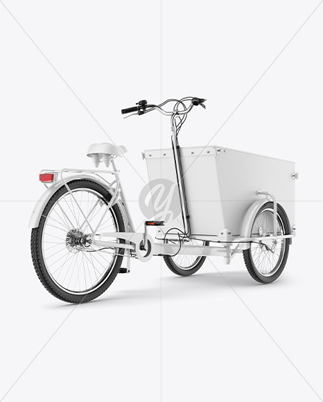Cargo Bike Mockup - Back RightHalf Side View - Yellowimages Mockups