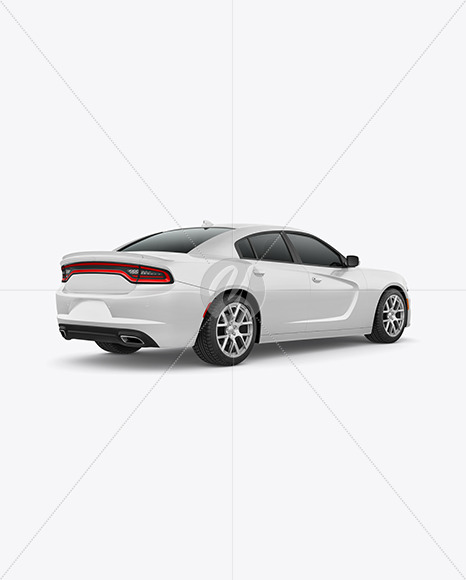 Muscle Car Mockup - Back Half Side View - Yellowimages Mockups
