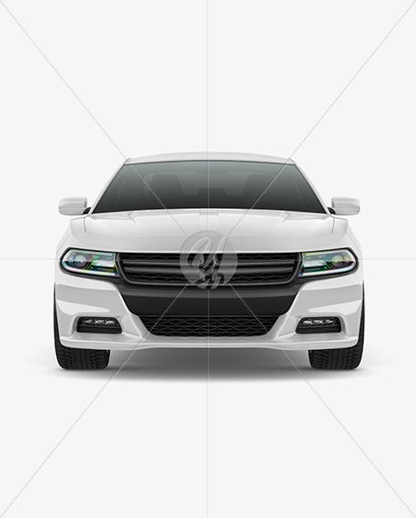 Muscle Car Mockup - Front View - Yellowimages Mockups