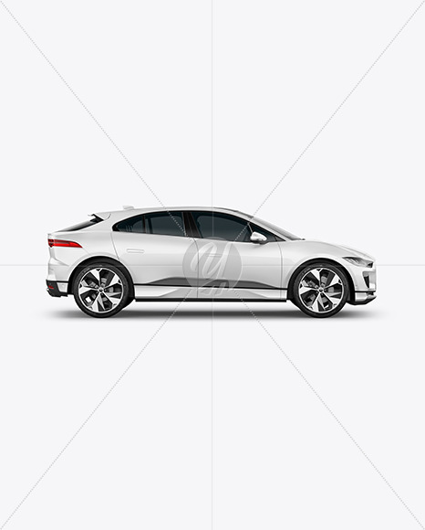 Electric Crossover SUV Mockup - Side View - Yellowimages Mockups