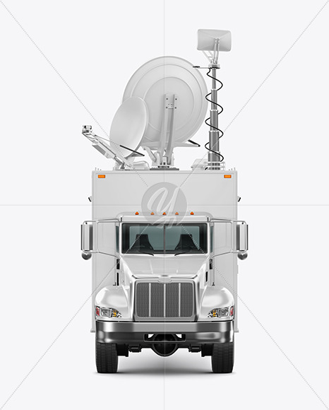 TV Truck Mockup - Front View - Yellowimages Mockups