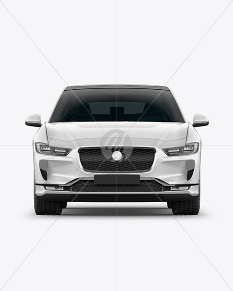 Electric Crossover SUV Mockup - Front View - Yellowimages Mockups