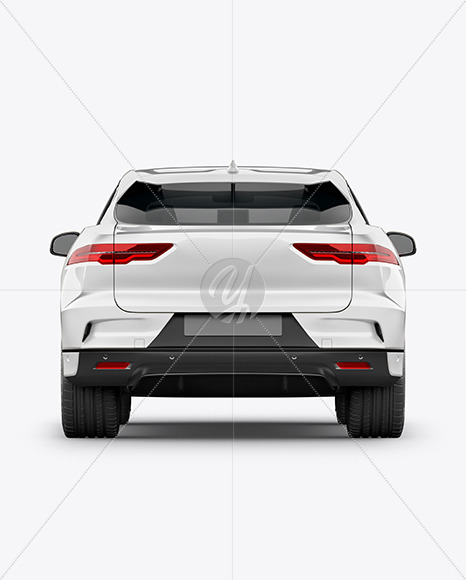 Electric Crossover SUV Mockup - Back View - Yellowimages Mockups