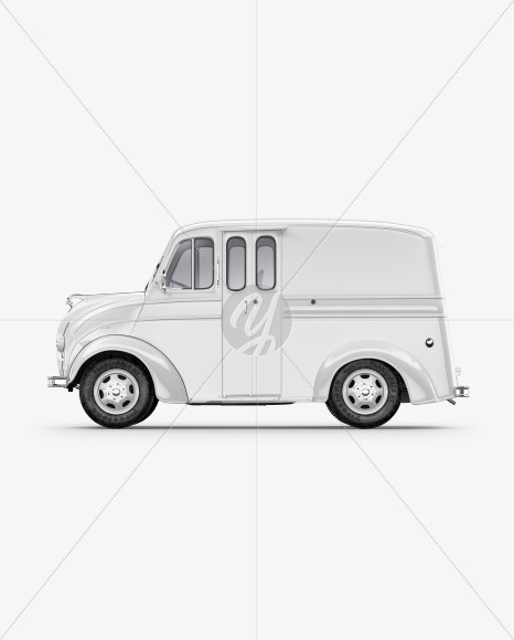 Delivery Truck Mockup - Side View - Yellowimages Mockups