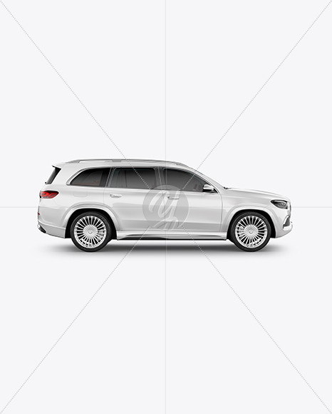 Full-size luxury SUV Mockup - Side View - Yellowimages Mockups