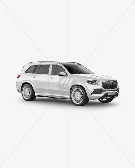 Full-size luxury SUV Mockup - Half Side View - Yellowimages Mockups
