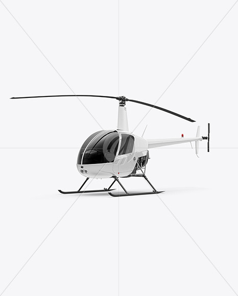 Helicopter Mockup - Half Side View - Yellowimages Mockups