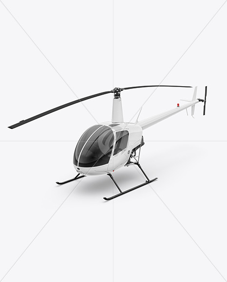 Helicopter Mockup - Half Side View (High-Angle Shot) - Yellowimages Mockups