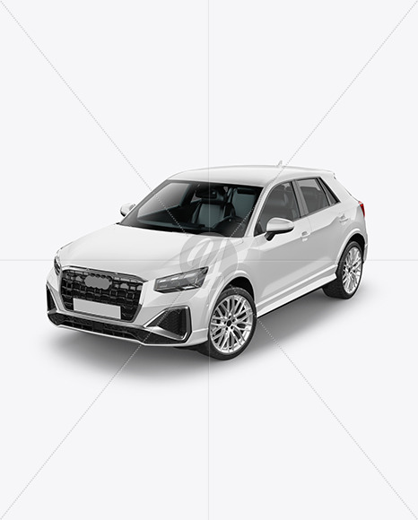 Luxury Crossover SUV - Half Side View (High-Angle Shot) - Yellowimages Mockups