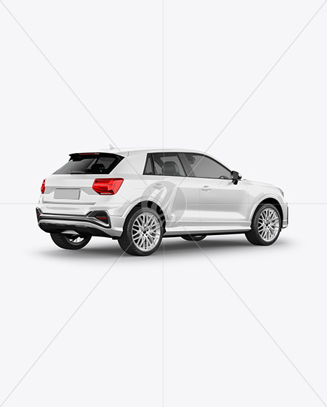 Luxury Crossover SUV - Back Half Side View - Yellowimages Mockups