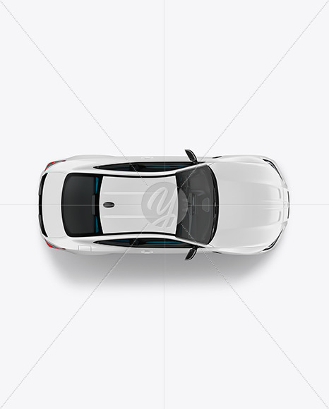 Compact Executive Car - Top View - Yellowimages Mockups