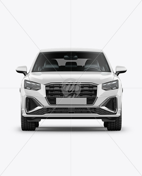 Luxury Crossover SUV - Front View - Yellowimages Mockups