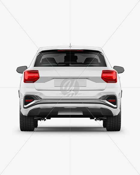 Luxury Crossover SUV - Back View - Yellowimages Mockups