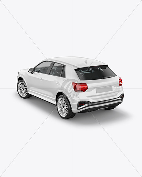 Luxury Crossover SUV - Back Half Side View (High-Angle Shot) - Yellowimages Mockups