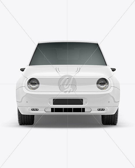 Compact Electric Car Mockup - Front View - Yellowimages Mockups