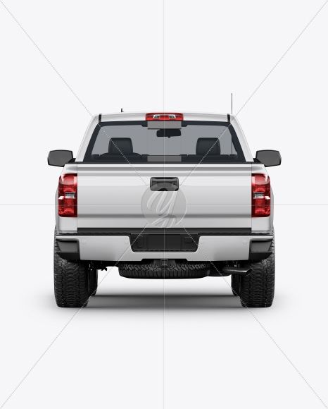 Full-Size Pickup Truck Mockup - Back View - Yellowimages Mockups